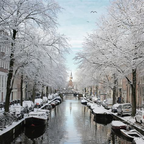 The Frosty Bloemgracht Of Amsterdam © All Rights