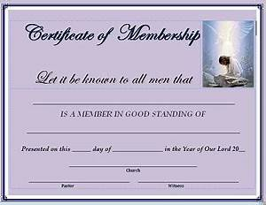 certificate of membership With new member certificate template