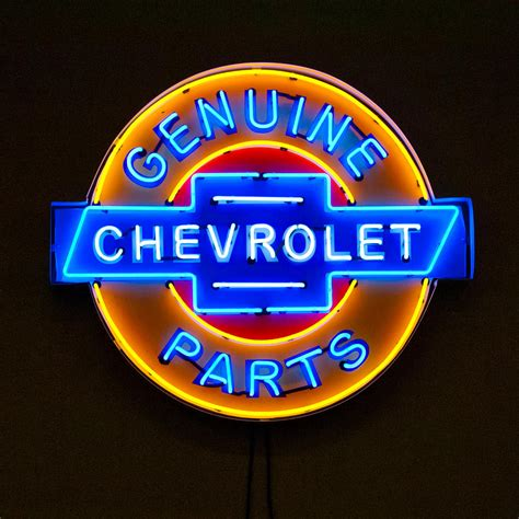 Chevrolet Neon Sign by Chevrolet Neon Sign Photograph By Reger
