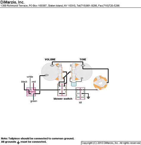 a custom designed dimarzio wiring diagram for a single humbucker guitar includes