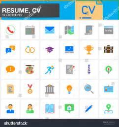 15016 resume icon white vector icons set resume cv modern stock vector 502694629