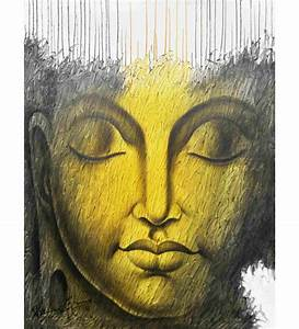 Painting without frame canvas art buddha abstract by elite for Best brand of paint for kitchen cabinets with large buddha wall art