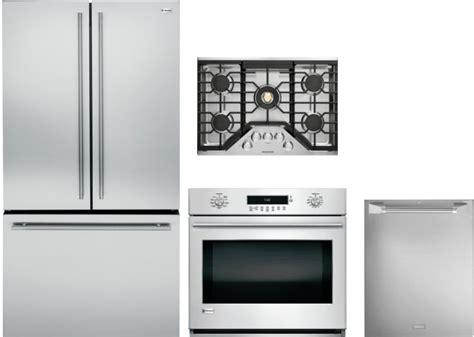monogram morectwodw  piece kitchen appliances package  french door refrigerator
