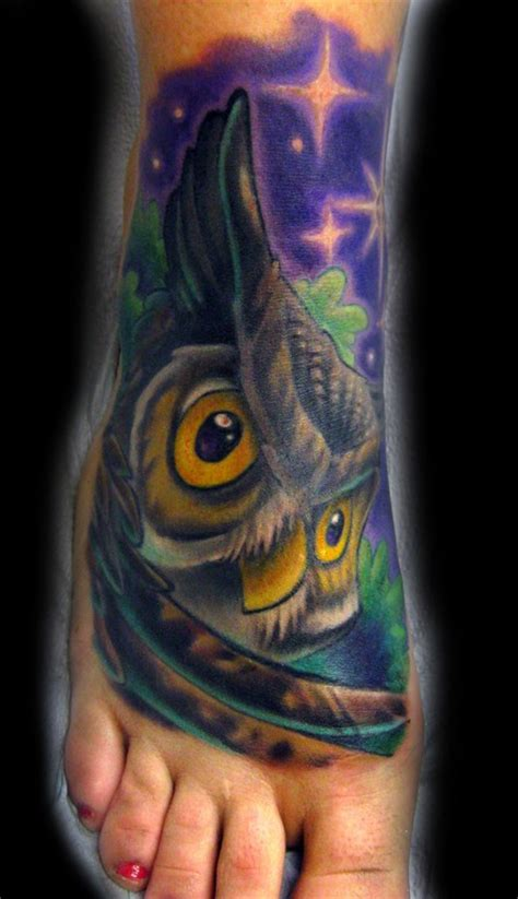 owl tattoos ideas  foot