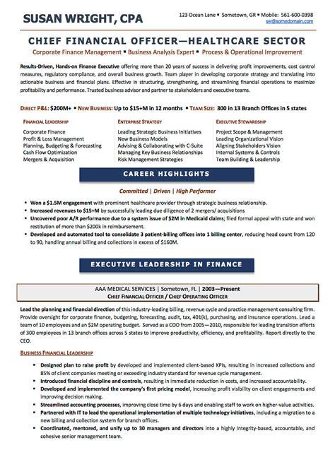 Hospital Cfo Resume Exles by Resume Exles Cv Sle Resume Templates Rso Resumes