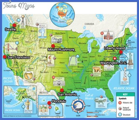 united states map tourist attractions toursmapscom