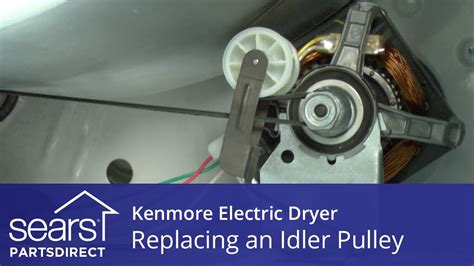 replace  kenmore electric dryer idler pulley youtube