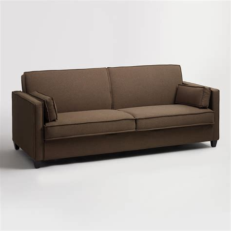 Chocolate Brown Nolee Folding Sofa Bed World Market