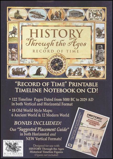 record  time printable timeline notebook  cd
