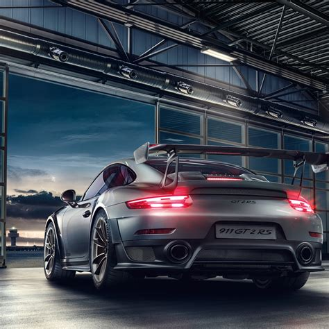wallpaper porsche  gt rs rear view hd