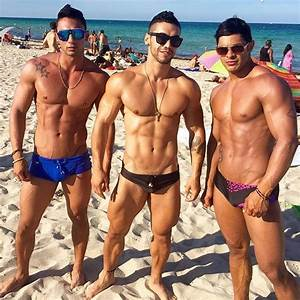 Sexy gays at the beach