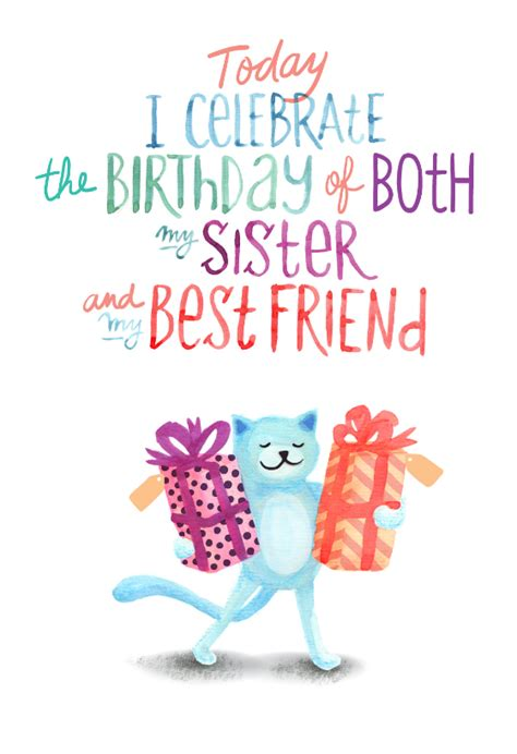 favorite sisters  day  birthday card