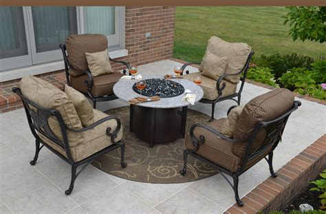 amalia 4 person luxury cast aluminum patio furniture chat