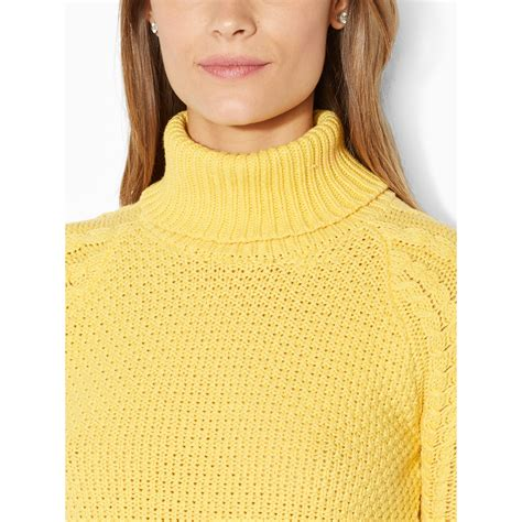 yellow cable knit sweater by ralph cable knit turtleneck sweater in