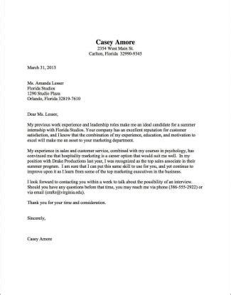 Resume Cover Letter by Cover Letter Sles Uva Career Center