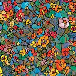 Self Adhesive Backsplash Tiles Canada by Venetian Garden Self Adhesive Stained Glass Window Film