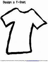 Coloring Clothes Preschool Line sketch template