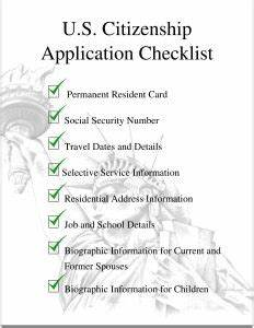 Us citizenship application checklist helps you get ready for Documents for apply citizenship