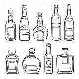 Bottle Alcohol Bottles Illustration Whiskey Collection Drawing Sketch Vector Getdrawings sketch template