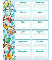 HD Wallpapers Printable Classroom Birthday Charts