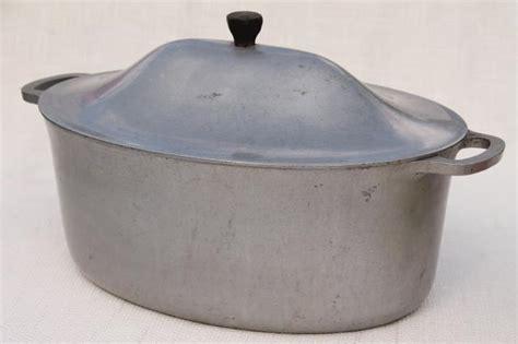 vintage cast rite aluminum oval dutch oven roaster chicken fryer roasting pan