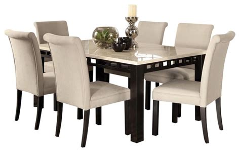 7 dining room sets gateway 7 dining room set with parsons chairs white transitional dining sets by