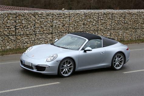 new porsche 911 targa spyshots new porsche 911 targa almost undisguised