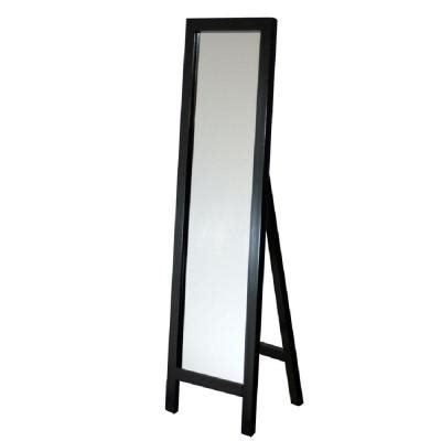floor mirror home depot deco mirror 18 in x 64 in single easel floor mirror in espresso 8807 the home depot