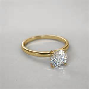 timeless engagement rings timeless four prong 1 2 ctw solitaire engagement ring in 14k yellow gold