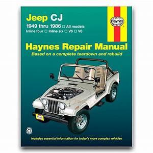 Haynes Repair Manual For 1976-1986 Jeep Cj7