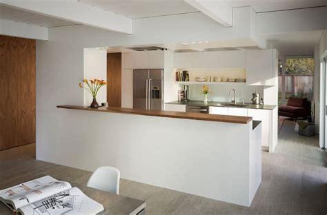 cuisine ouverte sur salle a manger separation cuisine salle a manger esprit loft armentires