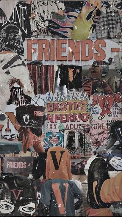Vlone Aesthetic Wallpapers Collage Hypebeast Cartoon Bape