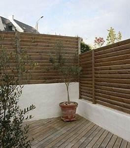 Brise Vue Opaque : claustra bois palissade brise vue type persienne ~ Premium-room.com Idées de Décoration