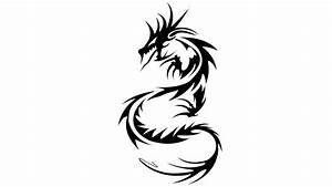 Dragon Black And White Tribal Wallpaper - ClipArt Best