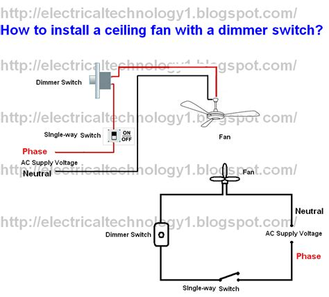 how to wire a ceiling fan switch how to install ceiling fan with a dimmer switch part 1