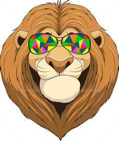 cute cuddly cartoon lion sticker  lionessgraphics