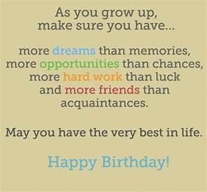 Boys Birthday Quotes For A Teenager Birthday Poems For ...