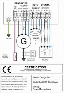Diesel Generator Control Panel Wiring Diagram Ac Connections