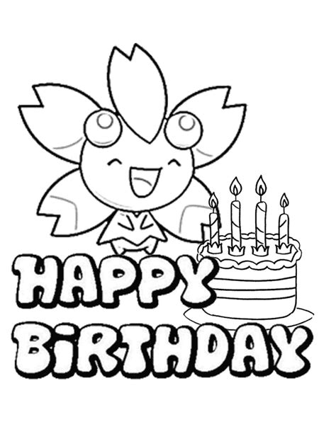 pokemon  cake coloring page   coloring pages