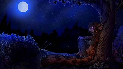 Furry Night Wallpapers Brown Trees Roses Background