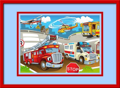 Wandtattoo Kinderzimmer Fahrzeuge by Kinderzimmer Wandtattoo Einsatzfahrzeuge