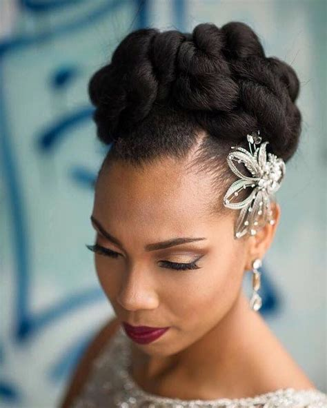 Bride wedding hair African American hair Natural