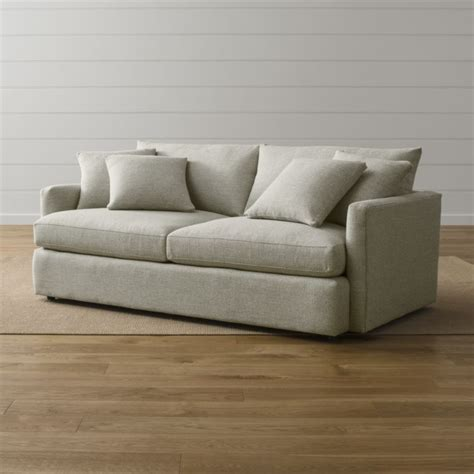 crate and barrel sofas and loveseats lounge ii 83 quot sofa taft cement crate and barrel