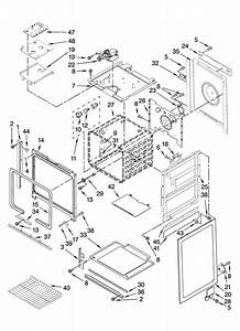Oven Parts Diagram  U0026 Parts List For Model Gw395lepb05