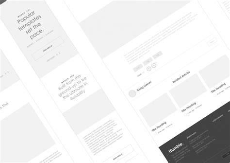 Axure Tablet Template Axure Responsive Template Website 1