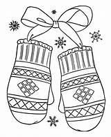 Coloring Winter Mittens Season Drawing Gift Lovely Mitten Pattern Getdrawings Netart Colornimbus sketch template
