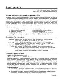 resume information technology manager sle resume for information technology manager