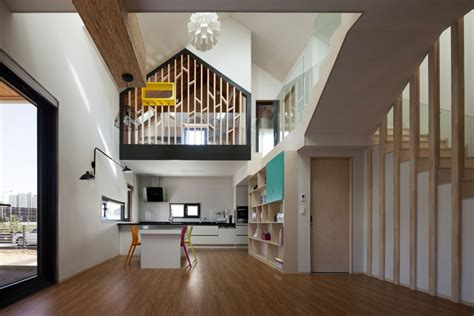 modern  shaped house  south korea idesignarch