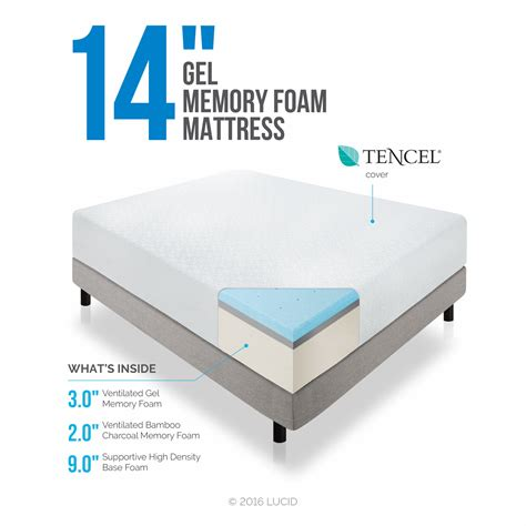lucid 14 memory foam mattress lucid 14 quot memory foam mattress reviews wayfair