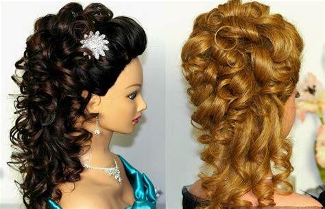 Bridal prom hairstyle for long hair Curly hairstyle